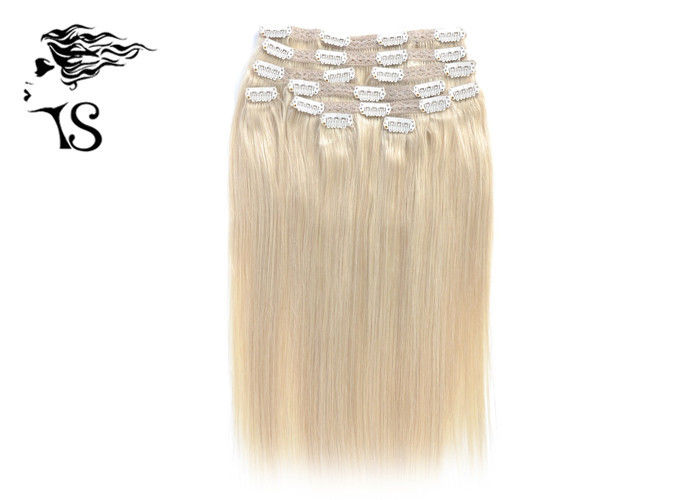 Golden Blonde Clip in Human Hair Extensions with 100% Remy Human Hair